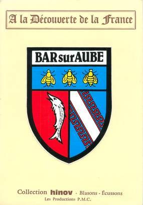 """CPSM FRANCE 10 """"Bar sur Aube"""" / ÉCUSSON ADHESIF"""