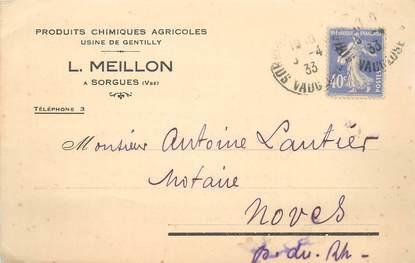 """CPA FRANCE 83 """"Sorgues, Usines de Gentilly, produits chimiques, Pr. L. MEILLON"""""""