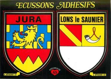 """CPSM FRANCE 39 """"Lons le Saunier """" / ÉCUSSON ADHESIF"""