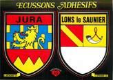 """39 Jura CPSM FRANCE 39 """"Lons le Saunier """" / ÉCUSSON ADHESIF"""
