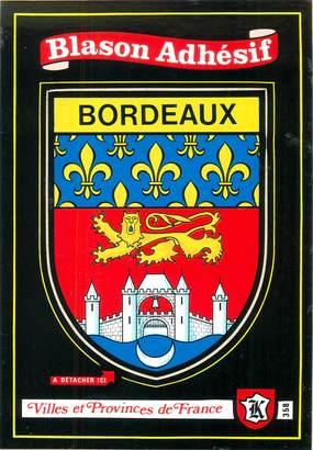 """CPSM FRANCE 33 """"Bordeaux"""" / ÉCUSSON ADHESIF"""