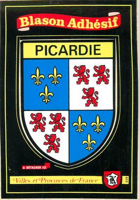 "CPSM FRANCE 80 ""Picardie"" / ÉCUSSON ADHESIF"