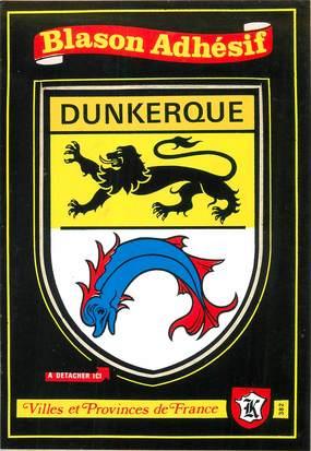 "CPSM FRANCE 59 ""Dunkerque"" / ÉCUSSON ADHESIF"