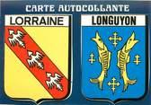 """54 Meurthe Et Moselle CPSM FRANCE 54 """"Longuyon"""" / ÉCUSSON ADHESIF"""