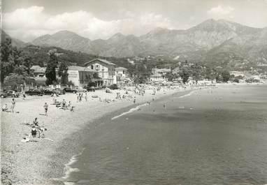"""CPSM FRANCE 06 """"Roquebrune Cap Martin, La plage des Carnolés""""."""