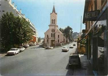 """CPSM FRANCE 06 """" Roquebrune Cap Martin, L'église St Joseph à Carnolès""""."""