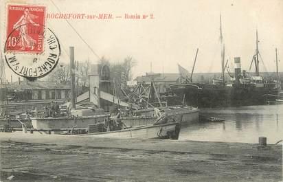"CPA FRANCE 17 ""Rochefort sur Mer, Bassin n° 2""."