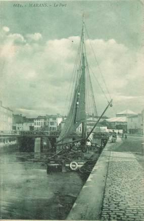 "CPA FRANCE 17 ""Marans, Le port""."