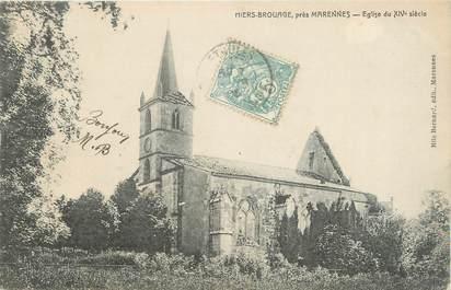 """CPA FRANCE 17 'Hiers Brouage, L'église""""."""