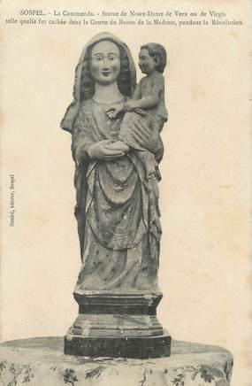 "CPA FRANCE 06 "" Sospel, La Commena, Statue de Notre Dame de Verx""."