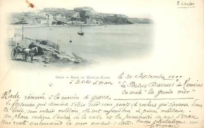 """CPA ALGERIE """"Oran, Rade de Mers El Kebir"""""""