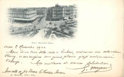 "CPA ALGERIE ""Oran, Bld Séguin"""