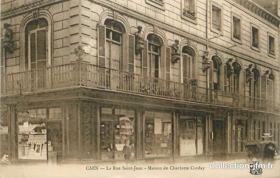 cpa france 14 caen la rue st jean maison de charlotte corday 14 calvados caen 14. Black Bedroom Furniture Sets. Home Design Ideas