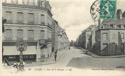 "CPA FRANCE 61 ""Flers, rue de la Banque"""