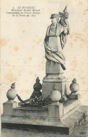 """CPA FRANCE 73 """" Le Bourget, Le monument de Mr Amédée Roland"""". / GUERRE DE 1870"""