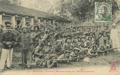 """CPA VIETNAM / INDOCHINE """"Saïgon, tirailleurs annamites"""""""