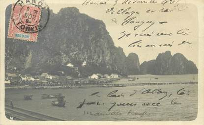 "CARTE PHOTO VIETNAM / INDOCHINE ""Hongay"""