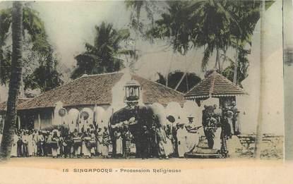 "CPA SINGAPOUR ""Procession religieuse"""