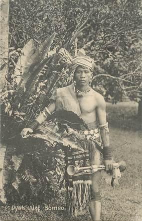 """CPA MALAISIE """"Bornéo, Chef Dyak"""""""