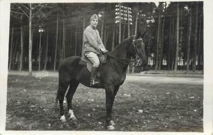 """CARTE PHOTO FRANCE 57 """" Bitche, Un soldat à cheval""""."""