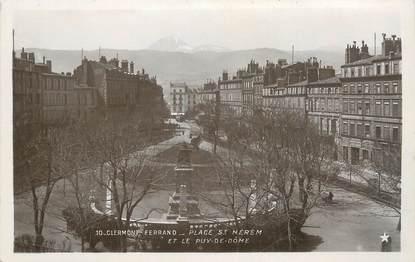 """CPSM FRANCE 63 """"Clermont Ferrand, Place St Hérem""""."""