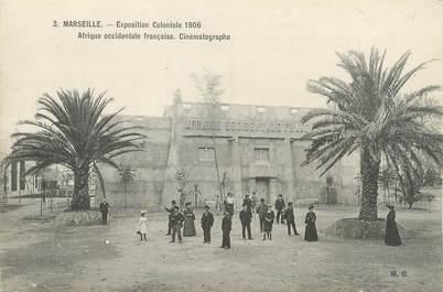 """CPA FRANCE 13 """" Marseille, Exposition coloniale de 1906, Afrique occidentale Français'"""". / CINEMA"""
