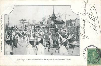 "CPA CAMBODGE ""Fête du Bouddha de Sa Majesté le Roi Norodom, 1903"""