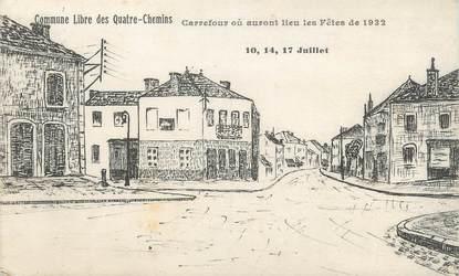 """CPA FRANCE 71 """" Le Creusot, Le carrefour""""."""