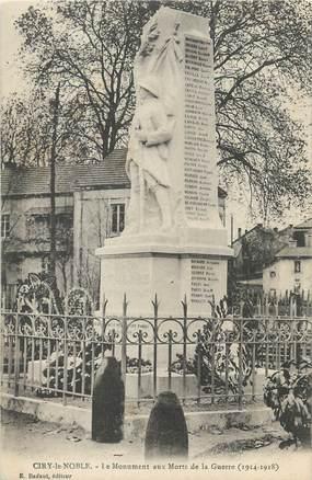 """CPA FRANCE 71 """"Ciry le Noble, Le monument aux morts""""."""