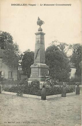 """CPA FRANCE 88 """" Docelles, Le monument aux morts""""."""