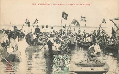 """CPA CAMBODGE """" Phnom Penh, Régates sur le Mékong"""""""