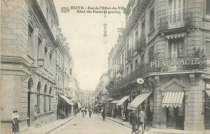 """CPA FRANCE 19 """"Brive, rue de l'Hotel de ville, Hotel des Postes"""""""