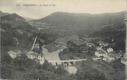 """CPA FRANCE 25 """" Goumois, Le pont et l'Ile"""""""