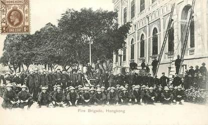 "CPA CHINE / HONG KONG ""Pompiers"""