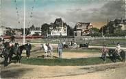 """14 Calvado CPSM FRANCE 14 """" Deauville, La plage fleurie, le poney club""""."""
