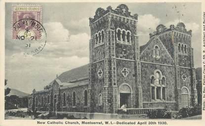 """CPA ILES VIERGES BRITANNIQUES """"Montserrat, église catholique"""""""