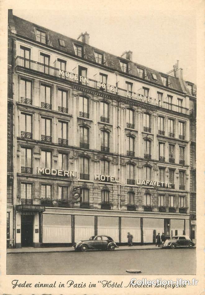 Cpsm france 75 paris 9 me moderne h tel lafayette for Hotel design paris 9eme