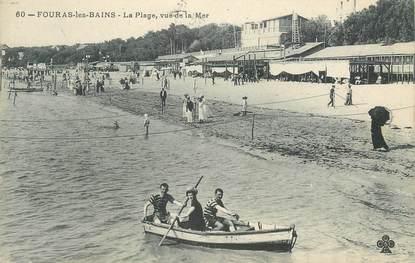 """CPA FRANCE 17 """" Fouras les Bains, La plage vue de la mer""""."""