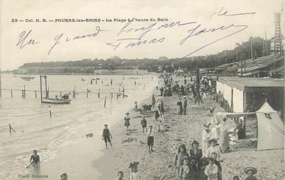 """CPA FRANCE 17 """" Fouras les Bains, La plage à l'heure du bain"""""""
