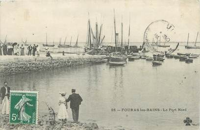 "CPA FRANCE 17 "" Fouras les Bains, Le port nord""."