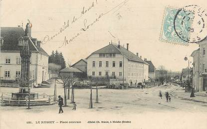 """CPA FRANCE 25 """"Le Russey, Place centrale"""""""