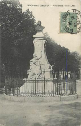 "CPA FRANCE 17 ""St Jean d'Angély, Le monument Joseph Lair""."