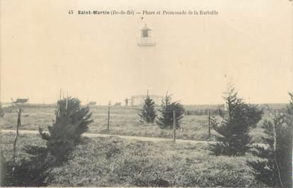 """CPA FRANCE 17 """"St Martin de Ré, Phare et promenade de la Barbelle"""". / PHARE"""