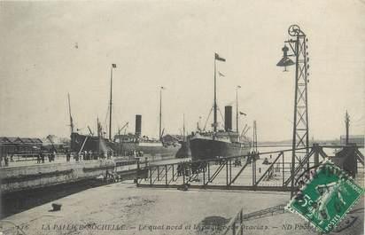 """CPA FRANCE 17 """"La Pallice - La Rochelle, Le quai nord et la Paquebot Oravia""""."""