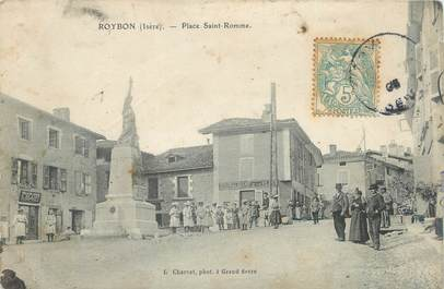 """CPA FRANCE 38 """"Roybon, Place St Romme""""."""