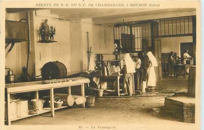 "CPA FRANCE 38 ""Roybon, Abbaye de Notre Dame du SC de Chambarand, La fromagerie""."