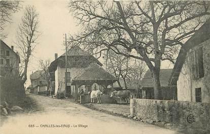 """CPA FRANCE 73  """"Challes les Eaux, le Village"""""""