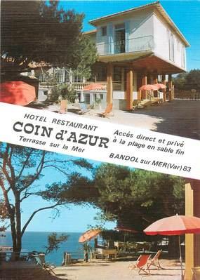 """CPSM FRANCE 83 """" Bandol, Hôtel Coin d'Azur""""."""