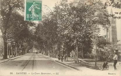 """CPA FRANCE 17 """" Saintes, Le Cours Reverseaux""""."""