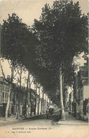 """CPA FRANCE 17 """" Saintes, Avenue Gambetta""""."""